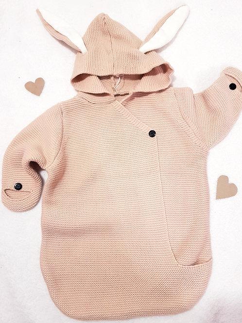 Pink bunny sleep bag