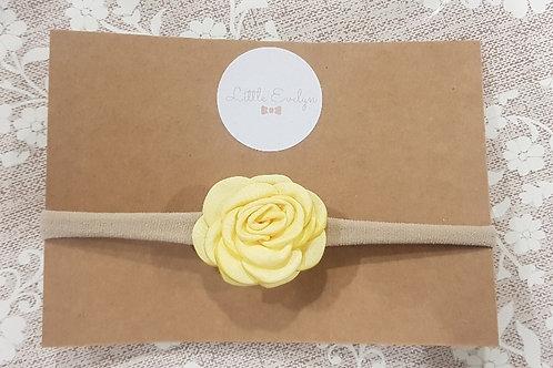 Yellow Flower Headband