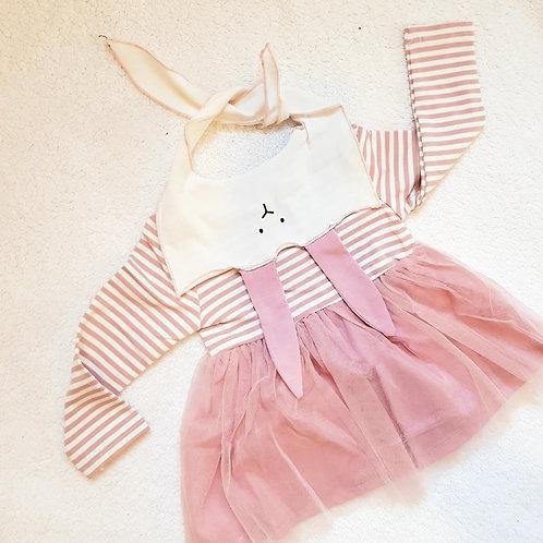 Pink Stripe Bunny Dress