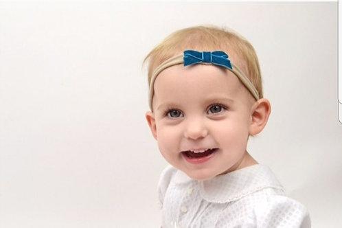 Teal Velvet Headband