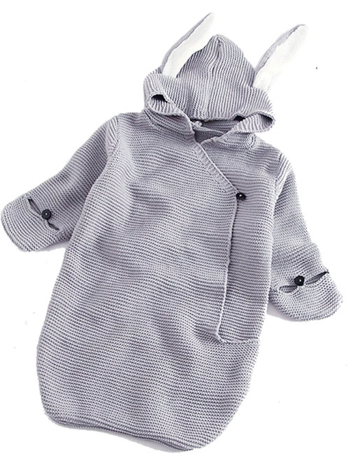Grey bunny sleep bag