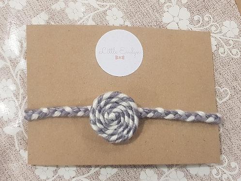 Grey Swirl Headband