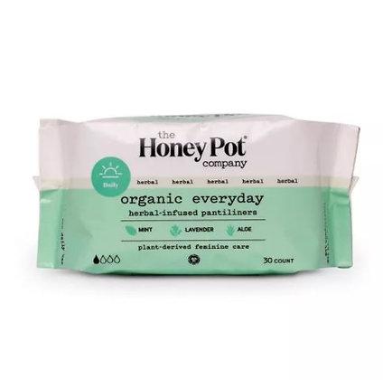 The Honey Pot Organic Cotton Herbal Pantiliners - 30ct
