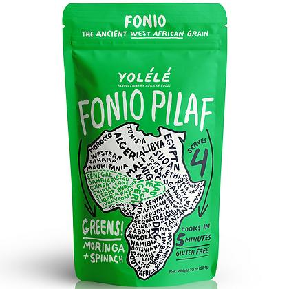 Yolele Greens! Fonio Pilaf: Moringa + Spinach