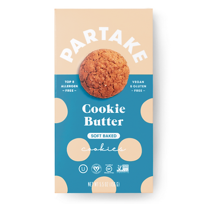 Partake Soft Baked Cookie Butter Cookies
