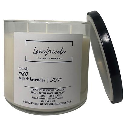 LeneNicole 3-wick Soy Candle Sage+Lavender - 1980