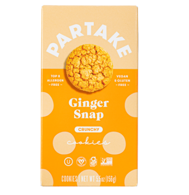 Partake Crunchy Ginger Snap Cookies