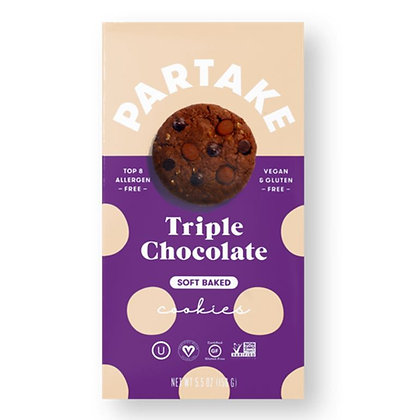 Partake Soft Baked Triple Chocolate Chip Cookies