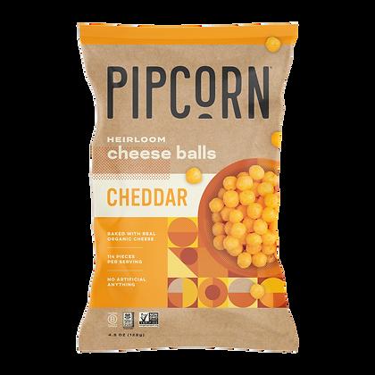 Pipcorn Hierloom Cheese Balls, Cheddar (4.5oz)