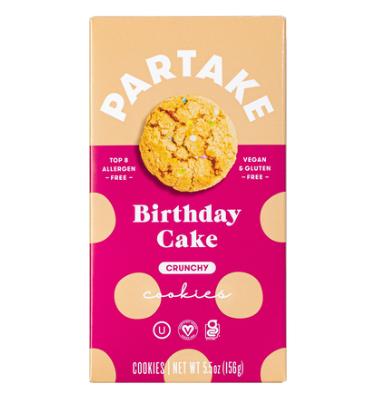 Partake Crunchy Birthday Cake Cookies