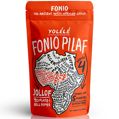 Yolele Jollof Fonio Pilaf: Tomato, Pepper, & Onion