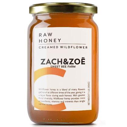 Zach & Zoe Creamed Wildflower Honey