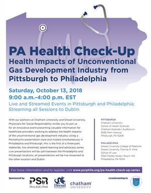 Workshop: Water Ways Fracking Game for Physicians for Social Responsibility PA Health Check-Up