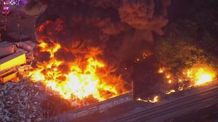 Scrapyard Fire in Kensington/Port Richmond