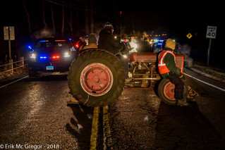 New York Farmers Tractor Blockade Construction of Massive Fracked Gas Power Plant