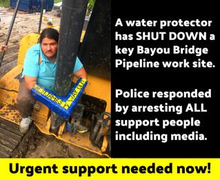 Shutdown of Bayou Bridge Pipeline Worksite