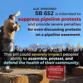 PA House Bill SB652 Criminalizing Protest