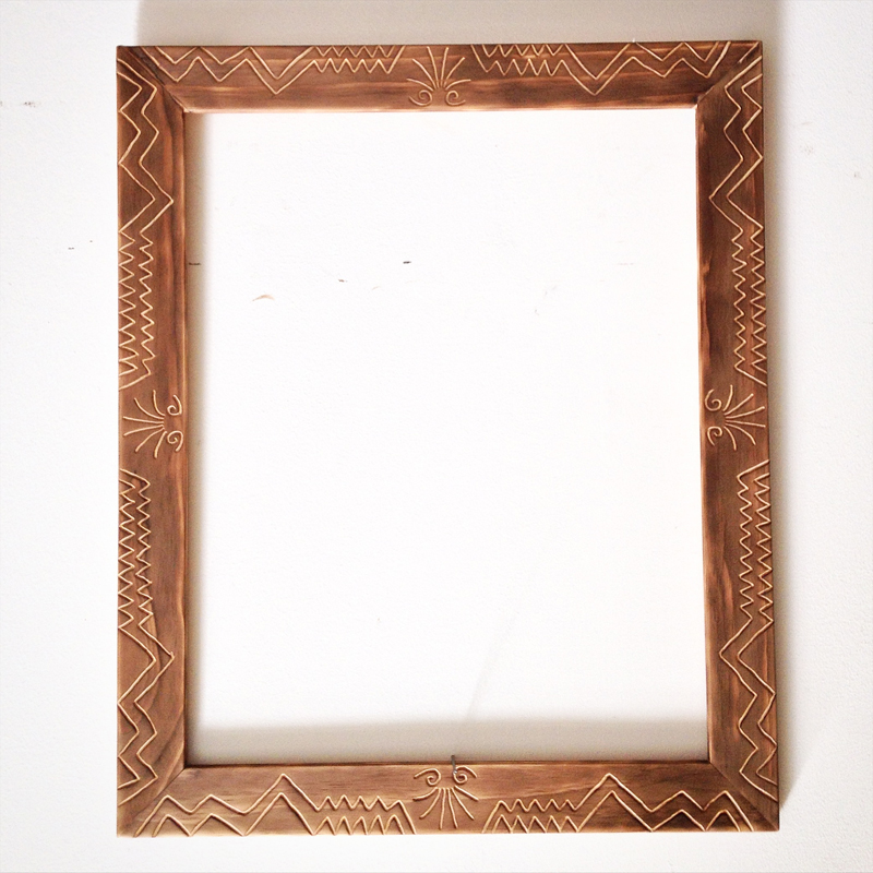 "'Shaft' frame 22/27"" stained"