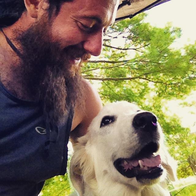 Me and Yoni the dog
