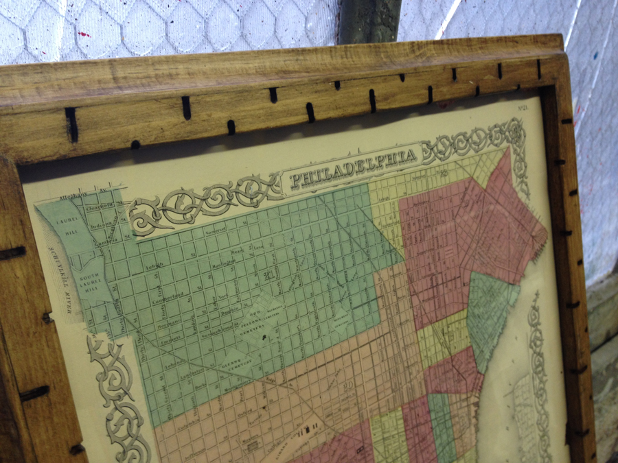 """Old Philadelphia Map Frame 14/17"""""""