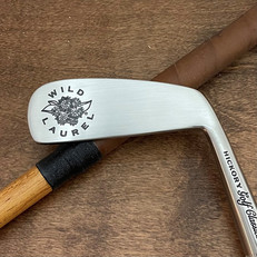 Hickory Shaft Engraved Blade Putter Golf Club  Logos and Branding