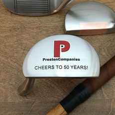 Hickory Shaft Engraved Mallet Putter Golf Club  Milestone and Achievement Award