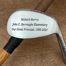 Hickory Shaft Engraved Niblick Golf Club Retirement Gift