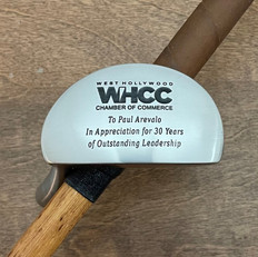 Hickory Shaft Engraved Mallet Putter Golf Club  Milestone and Retirement Gift