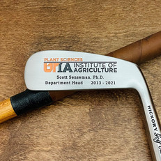 Hickory Shaft Engraved Blade Putter Golf Club  Logo Milestone and Appreciation Gift
