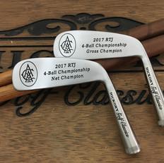 Hickory Shaft Engraved Blade Putter Golf Club  Golf Tournament Engraved Trophies