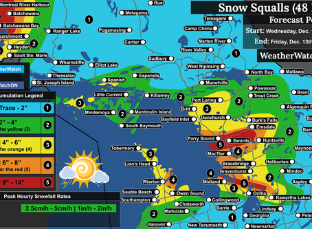 *UPDATED* Multi-Day Snow Squall Outbreak Across the Great Lakes