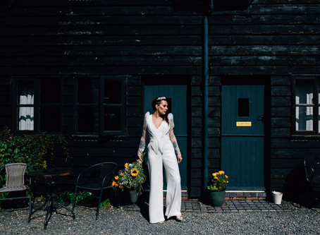 An alternative to the wedding dress, a bridal jumpsuit!