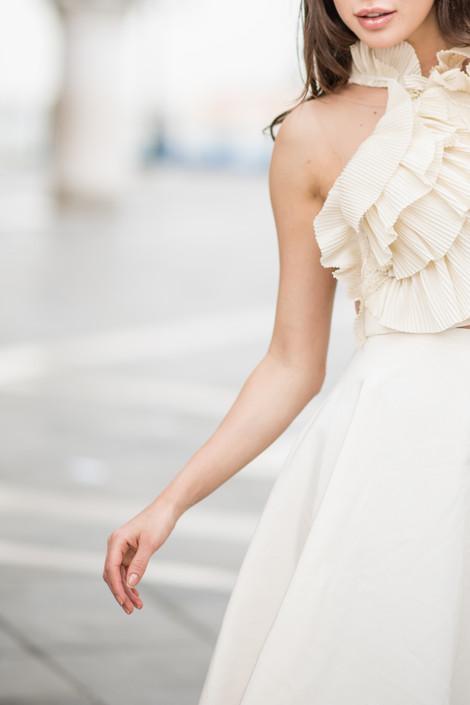 Petals Top & Paper Flower Skirt