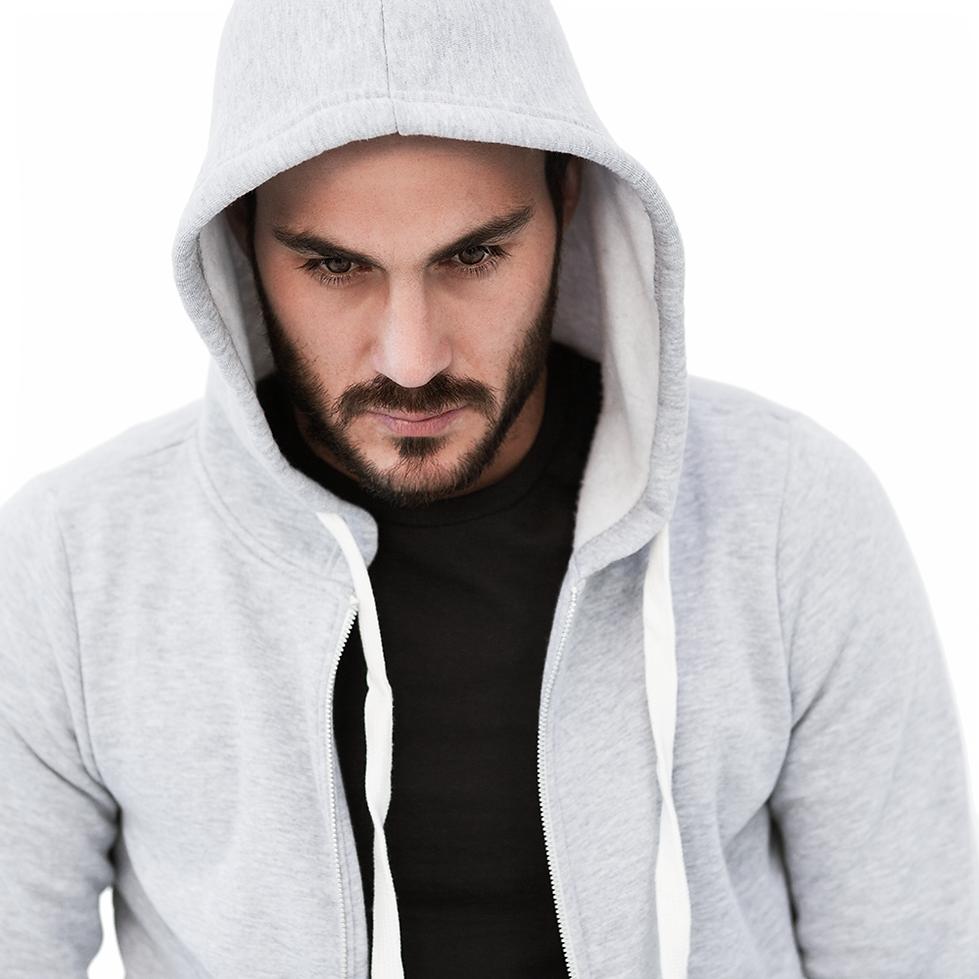 Man in Grey Hoodie