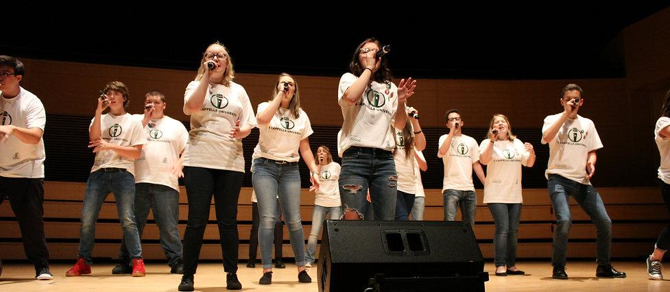 Students performing at A Cappella Univesity 2017