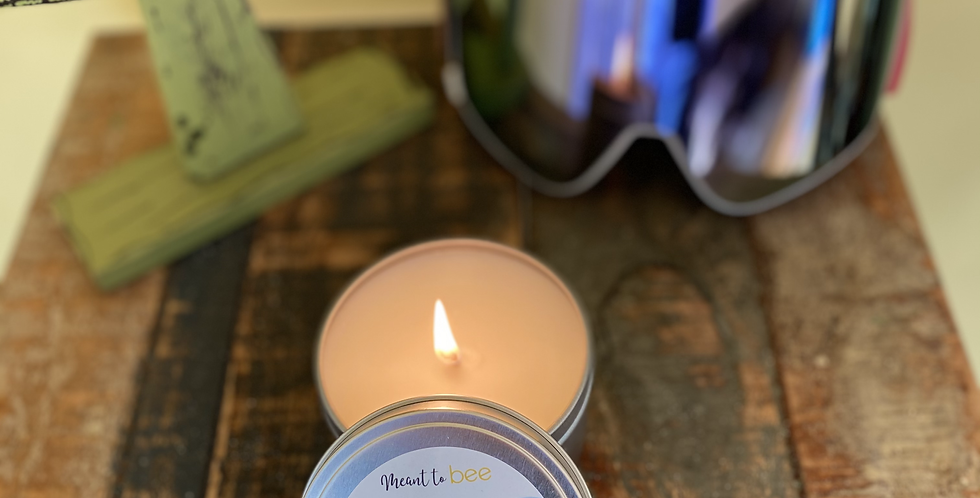I'd rather bee on the slopes candle