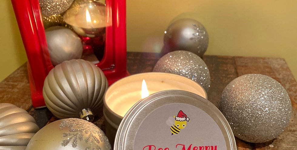 Meant to Bee Merry candle