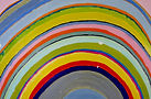 rainbow art, marbling, painted rainbow, arc, weather, oil paint, contemporary marbling