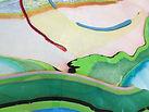 landscape art, painting, process art, marbling. yoga