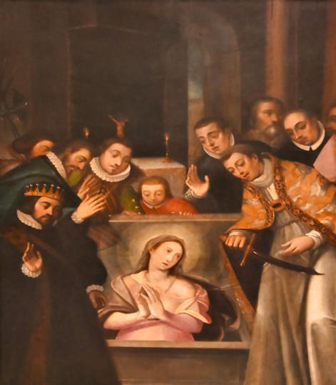Lienzo del retablo de San Ildefonso