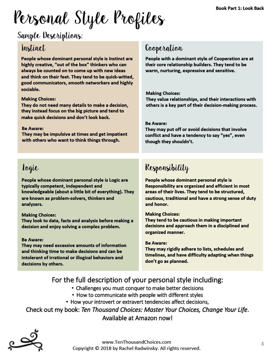 Personality Style Profile Free PDF