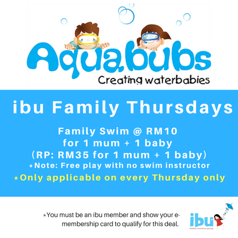 Baby swimming classes for ages 4 months old to 7 years old in a heated, saltwater pool. Location - Bangsar and Bukit Damansara
