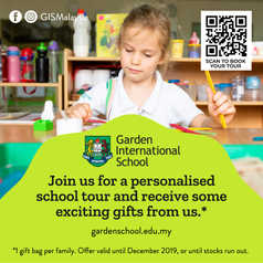 AT GIS, we are committed to bringing out the best in every child. Thanks to our personalised learning culture, inspiring teachers and flexible enrolment options, our children love coming to school! Play, learn and get inspired during your personalised school tour: book yours online (at https://www.gardenschool.edu.my/enquire-now/) or contact our friendly admissions team at admissions@gardenschool.edu.my or (603) 6209 6888.