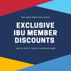 Exclusive Ibu Member Discounts.