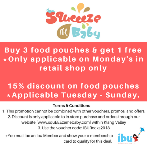 SquEEEze Me Baby provides the nutrients that you and your children need – in a convenient squeeze pouch! Fresh fruit and vegetable purée served in convenient SquEEEze pouches! Ideal for children, esp babies from 6 s old. P for health conscious adults on-the-go