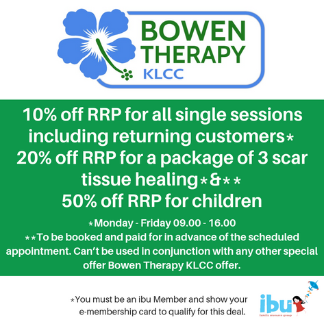 Bowen therapy originated in Australia, and the technique is named after the man who devised it, Thomas Ambrose Bowen. Bowen Therapy is a great modality that works with the muscles and connective tissue,stimulating the body to heal itself via the autonomic nervous system.  Each session lasts between 15-45 mins, depending on what the body needs. It can be used to work with many conditions, and to aid the body's recovery from injury and illness.  I personally, have seen great improvement to my facial muscles after having Bell's palsy. My daughter has hyper mobility syndrome and has felt great pain relief for weeks after a treatment, she also reports her sleep is much improved after a session too.  There are many positive reports about conditions that Bowen therapy helps with,and I have many positive reviews and some have been included on my Facebook page, Bowen therapy klcc.  I studied the bowtech method here is Kuala Lumpur, and was in the first batch  of students in Malaysia to complete the 7 modules that make up the Australian cert4 qualification in January 2017.  Due to my husbands work (that involves a lot of travel) we were In Sarawak then London then home in Scotland the following year, finally returning to Kl in February of this year. During that time I studied my anatomy and physiology ( necessary to practise Bowen as a professional). I also took a further course called the importance of symmetry, devised by Graham Pennington which has enhanced my practise a great deal.  I also took a short course on scar tissue relief with a very experienced instructor called Alastair McLoughlin. I am the first in Malaysia to be accredited with his technique, and I have had many positive results helping mum with their c section scars.  The scar tissue relief, aids in the appearance of scars and also the impact they have on our bodies and I have been very pleased that many mums have reported they are happy after only 3 sessions.  I am currently working with a few mums to see h