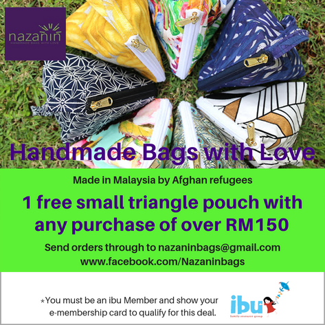 Send orders through to nazaninbags@gmail.com