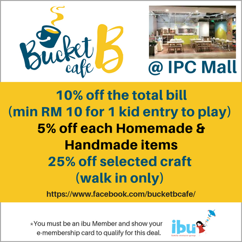 Bucket B Cafe is a child-friendly cafe where the parents can enjoy a cup of coffee or tea while watching their little ones play in the secure play area.