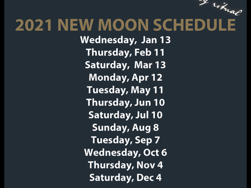 New Moon Circle 2021 Schedule
