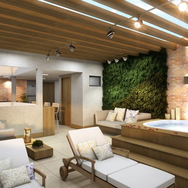 Villa America Cobetura 3D